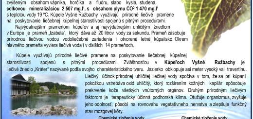 Prírodná liečivá voda - pramene